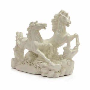 Pair Of White Horses - Vastu Sarwasv